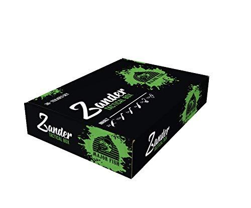 Major Fish Zander Tactical Box 36- teilig Gummifische mit Jigköpfe Wobbler + Raubfisch Zubehör