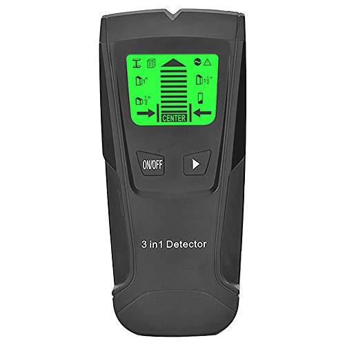 Cimoto 3 en 1 Detector de Metales Encontrar Metal Espárragos de Madera Ac Voltaje Cable en Vivo Detectar Escáner de Pared Buscador de Cajas Eléctricas Detector de Pared