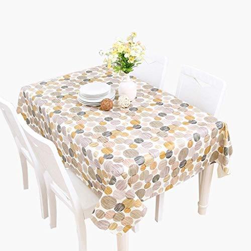 Gedruckte ölbeständige überlaufende rechteckige Tischabdeckung PVC-Picknicktisch-Abdeckung für Feiertags-Abendessen-Partei (Farbe: Gelb, Größe: 137 * 180CM)