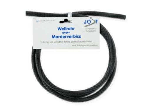 Marder-Wellrohr gegen Marderverbiss, Marderschutzschlauch, Marder-Kabelschutz, 2 Meter, 1 cm Durchmesser, geschlitzt