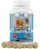 United Nutritionals Multivitamin for Dogs, Milk Thistle for Liver and Kidney, MSM,Chondroitin, Omega 3, Glucosamine, Probiotics, Enzymes, Coq 10, Biotin, 60/120 Chew-able Tablets. (120)