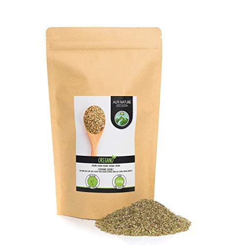 Orégano frotado (250g), orégano secado suavemente, especia de orégano 100% puro y natural para la preparación de mezclas de especias