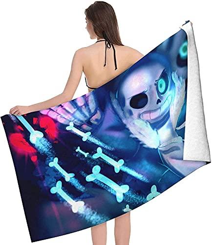 Proxiceen Undertale - Toalla de microfibra ligera de secado rápido para adultos, suave toalla de playa para piscina (A5,75 x 150 cm)