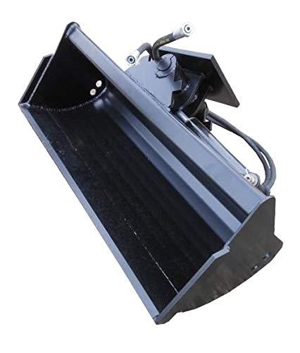 Baggerschaufel Minibagger Radlader Schaufel Arbeitsbreite: 120cm / Tiefe: 40 cm/Aufnahme: Universal um 45° Hydraulisch schwenkbar