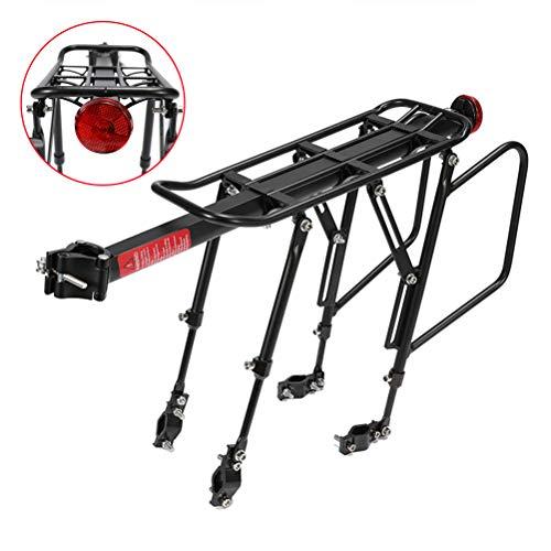Delaspe portapacchi posteriore per bicicletta, in lega di alluminio, portabici regolabile, adatto per portabici