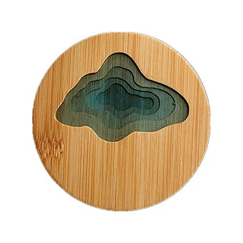 Sottobicchiere Antiscivolo2pcs sottobicchieri tovaglietta di bambù impermeabile isolamento pad tè tazza di caffè pad decorazione della tavola da cucina tavolo sottobicchiere piatto mat e