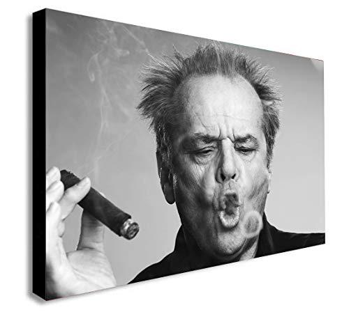 FAB Jack Nicholson Smoking - Stampa Artistica da Parete con Cornice, Varie Misure, A0 47x33 Inches