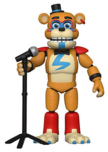 Funko- Action Figure: Five Nights at Freddys-PizzaPlex-Glamrock Freddy Coleccionable, Multicolor (47490)