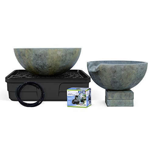 Aquascape 58087 Spillway Bowl and Basin Fountain Kit, Patina