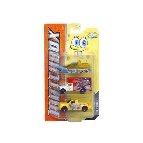 Matchbox Tv Heroes Spongebob Squarepants 3-vehicle Pack