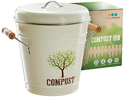 Check Out This Third Rock Compost Bin for Kitchen Counter - 1.3 Gallon Compost Pail with Inner Compo...
