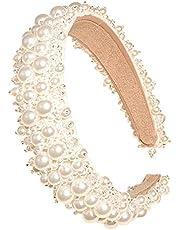 AllRing Pearl Hoofdbanden voor dames en dames, witte hoofdband, hoofddeksel, hoofdtooi, bruiloft, haarsieraad, bling, haarspeld styling tools accessoire voor verjaardag