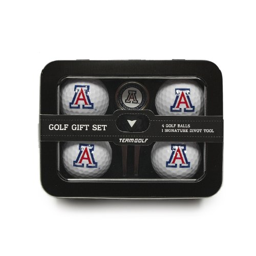 Best Deals! Team Golf NCAA Regulation Size Golf Balls (4 Count) & Divot Tool with Removable Double-S...