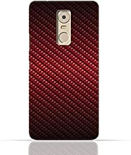 Lenovo K6 Note TPU Silicone Case With Red Fiber Pattern Design