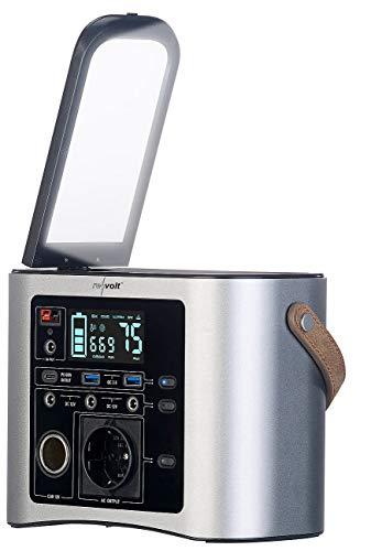 reVolt Notstrom: High-End-Powerbank & Solar-Konverter 90 Ah, 333 Wh, 230 V, 300 W (Powerbank Camping)