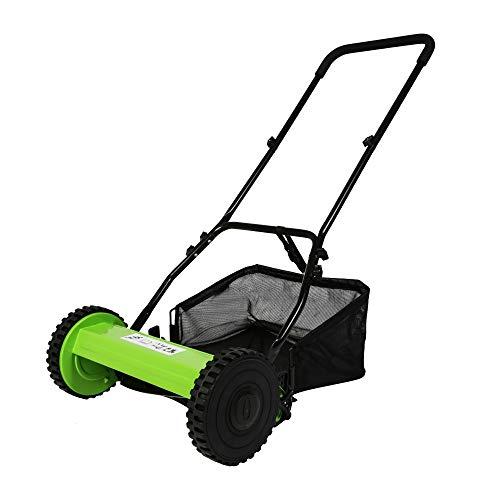 TRY & DO 16-Inch Manual Reel Mower Adjustable 5-Blade Push Lawn Mower...