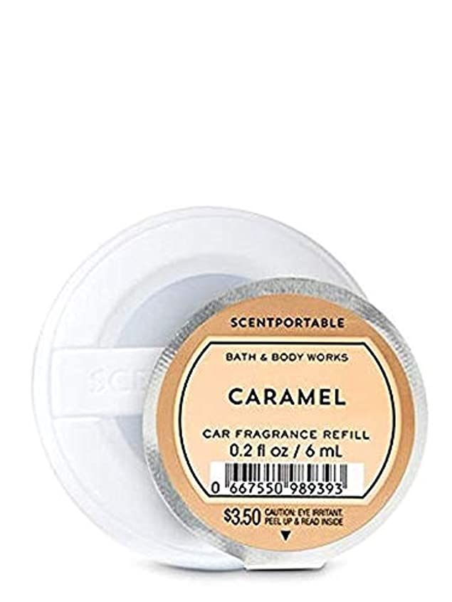 番目湿った縫う【Bath&Body Works/バス&ボディワークス】 クリップ式芳香剤 セントポータブル詰替えリフィル キャラメル Scentportable Fragrance Refill Caramel [並行輸入品]
