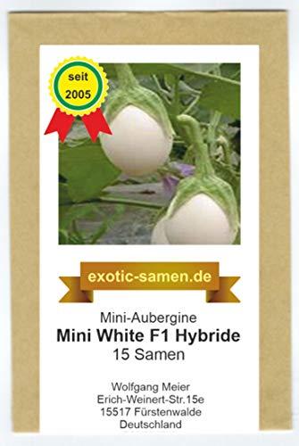 Mine-Aubergine - Mini White F1 Hybrid - 15 Samen