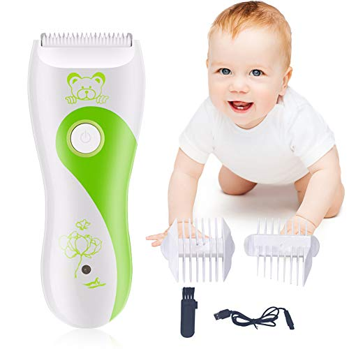 Maquina Cortar Pelo para Bebe, Eléctrico Clipper, Cortapelos Eléctricos para Bebés USB...