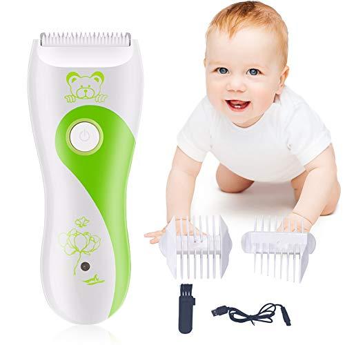 Baby Haarschneidemaschine, Baby Leise Haarschneider, USB Wiederaufladbare Wasserdicht Baby Haartrimmer, Haare Schneiden Profi Wahl, Schnurloses Haarschneidegerät Für Kinder