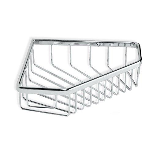Tatay Cestillo rinconero Krom, diseño Funcional y práctico, Fabricado en latón Cromado y Acero INOX.