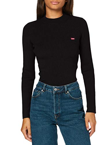 Levi\'s Damen Crew Rib Sweater, Caviar, Medium