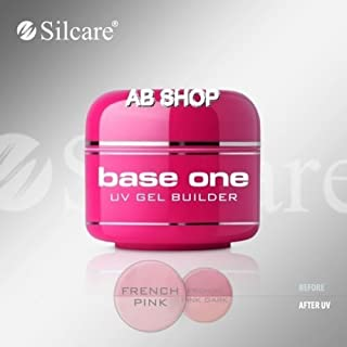 Base One French Pink 30g UV Gel Nails Builder Medium Thick File Off Gel Silcare