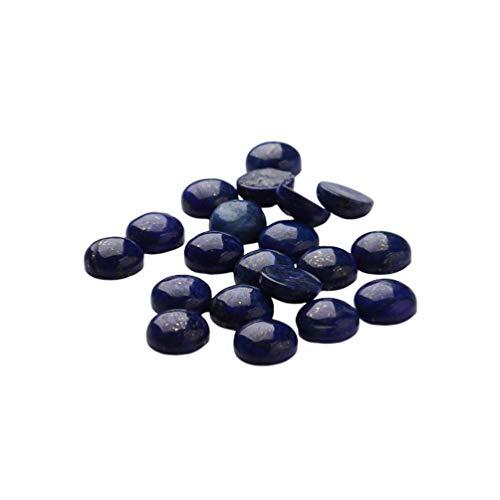 SUPVOX 20 piezas cabujones de media caña con media vuelta naturales naturales cuentas lapislázuli piedras preciosas semipreciosas cúpula camafeos para joyería que hace 8 mm