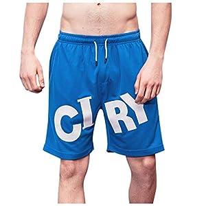 Basketballhose Herren Sport Casual Bodybuilding Gedruckt Shorts Schnelltrocknende Laufshorts Elastische Taille Elastisch Hose