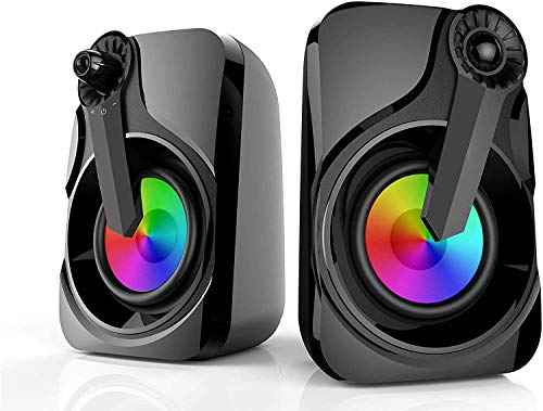 Altavoces Computadora, HEANTTV Colorful PC Speakers 2.0 Alimentado 2X3W 3.5mm Portable con...