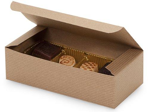 Set of 25 - 1/2 Pound Kraft Tan Candy Boxes