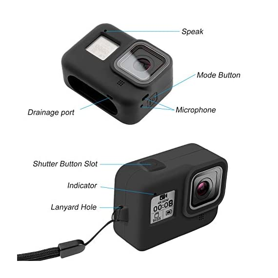 Deyard 60M Waterproof Case Compatible with GoPro Hero 8 Black Underwater Waterproof Protective Housing Case for GoPro… 2 Compatible Size: Specially designed for GoPro Hero 8. Easily operate the shutter/power button or select key/ Mode button underwater with an external button. Upgrade Convenience & Water Resistance: With an integrated design, convenient and time-saving to install and remove. The buckle is fastened with a buckle and a waterproof seal, which is good for extreme sports. 196ft Waterproof Depth & Superior Shockproof Thick Shell: With high strength shell, this GoPro case waterproof up to 196ft/60M. Protect your GoPro action camera for extreme sport like surfing, diving, snorkeling, skiing, drifting, skydiving cycling, etc.