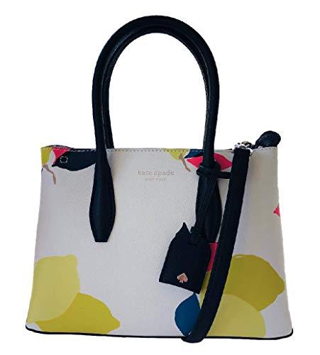 Eva Lemon Zest Small Top Zip Satchel Leather Bag White
