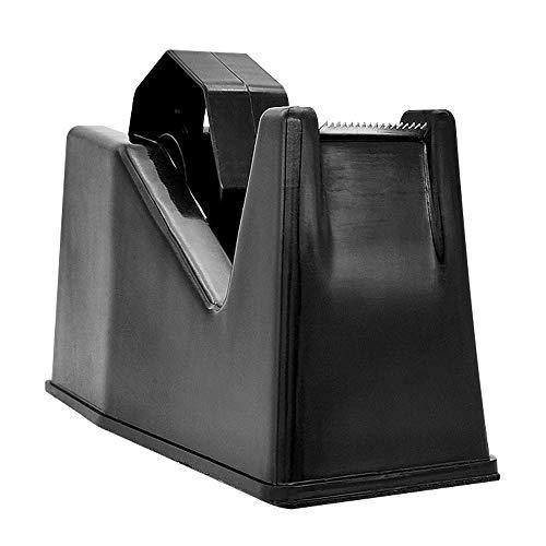 """Tape Dispenser, Masking Tape Dispenser, Desk Heat Tape Dispenser 6.3 x 2.5 x 3.4 Inch, Holder Fits 1"""" and 3"""" Core (Black)"""