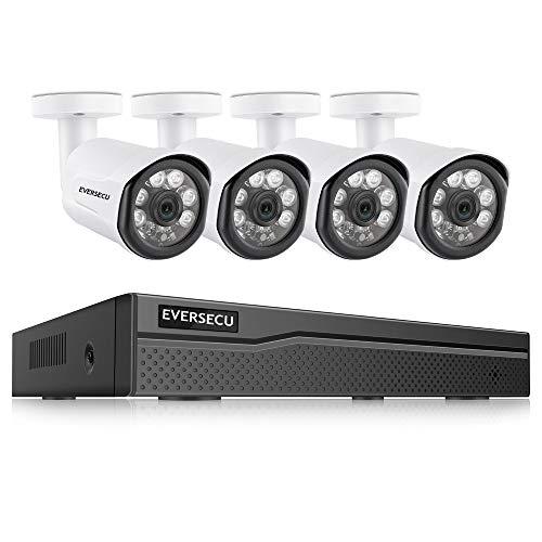 EVERSECU 4C 3MP HD POE NVR Video Security Camera System