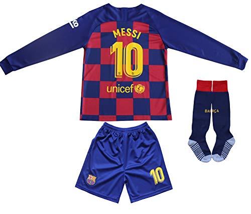 Memento Lionel Messi 2021/2020 - Maglia da Calcio a Maniche Lunghe, per Bambini, Taglia 10, Bambini (Unisex), Heim, 26 (8-10 Jahre)