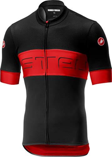 CASTELLI Prologo VI T-Shirt, Black/Red/Black, S Homme