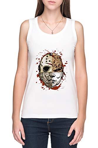 Horror TRITURAR De Tirantes Camiseta Mujer Blanco
