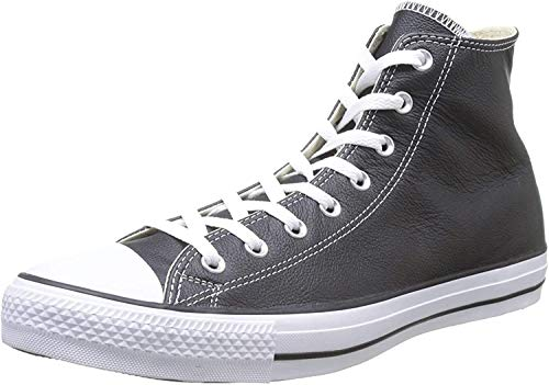 Converse Unisex Chuck Taylor All Star Leather High Top Shoe Black 9 Men US/11 Women US
