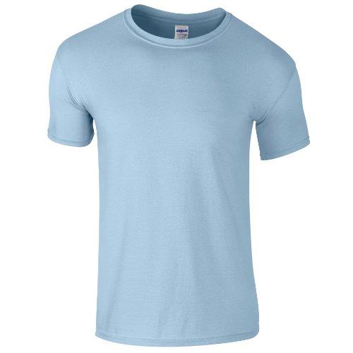 Gildan Childrens Unisex Soft Style T-Shirt (M) (Light Blue)