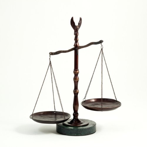 scales Bronzed Legal Lawyer Scales of Justice with Eagle Finial and Marble Base-12.5in.ht G.