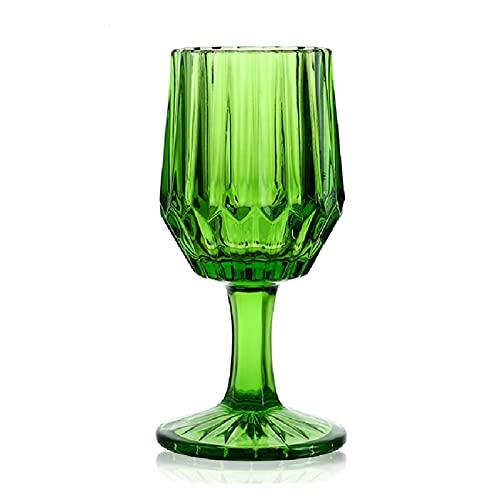 Takagawa HHH Ámbar Vino Vidrio Beber Gafas Boda Banquete Vino Taza Diamante Champagne Jugo Bebida Bebida Copa 220ml 8oz HHH (Capacity : 220ml, Color : Green)