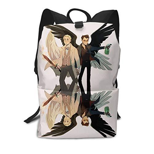 Sobrenatural edición limitada Good Om-ens Adria Arjona Terry Pratchett bruja escuela mochila cómoda 2021.0 para adolescentes, niños, niñas, estudiantes de ciclismo, senderismo, estudio