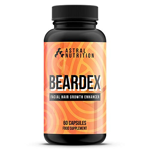 Beardex Beard Growth Pills - 1 Month Supply | Increases Facial Hair Growth Speed | Thickens & Reduces Patchiness | Strengthens & Prevents Shedding