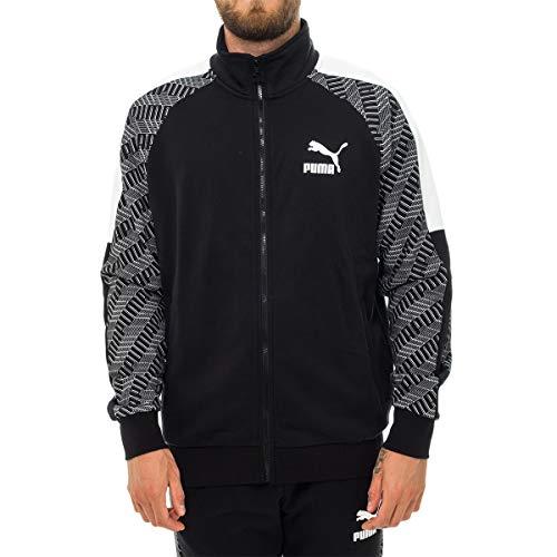 PUMA Felpa Uomo T7 Track Jacket AOP 595267.61 (L - 61 Black-Repeat Logo)