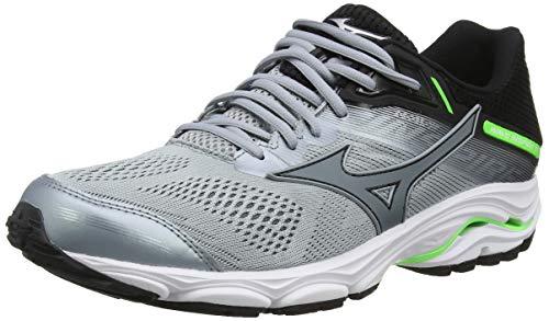 Mizuno Men's Wave Inspire 15 Running Shoes, Grey (Quarry/Stormy Weather/Green Gecko 35), 10 (44.5 EU)