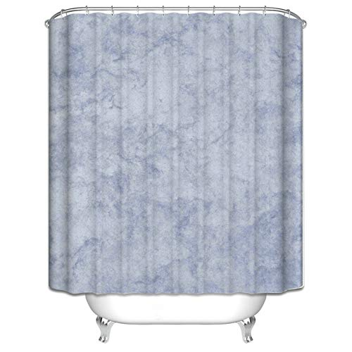 Ukilook Shower Curtain With Hooks For Bathroom, Marble Pattern Funny Shower Curtain Cloth, Polyester Fabric Shower Curtain, Water Repellent Treatment Home Bathroom Decorations Gray-Blue 36X72 Inch