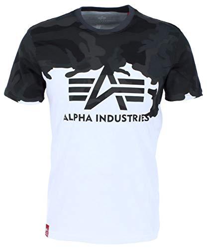 Alpha Industries Lost Camo T-Shirt Schwarz/Camouflage S