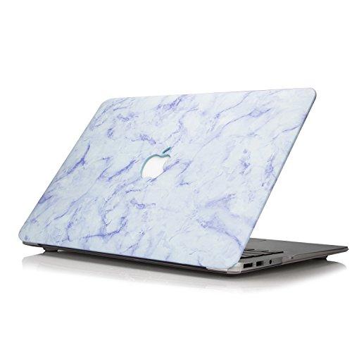 YMIXMacBookPro13ケース,2019/2018/2017/2016発売,対応モデルA2159A1989A1706A1708,耐衝撃PUレザーハードケース,MacBookPro13インチのパターン保護カバー,タッチバー付き/なし-ブルー大理石