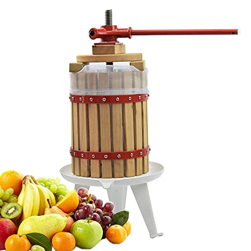 Prensa Dinámica De Madera Maciza, Jugo De Manzana Manual, Extractor De Jugo De Prensa De Vino Manual De Madera para El Hogar, Exprimidor De Cítricos Comercial
